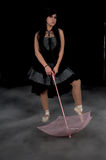 Gothic Parasol Dancer Stock Images