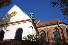 Gothic parish church in Gniezno Royalty Free Stock Photos
