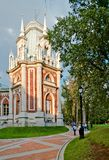 Gothic park in Russia. Ekaterina's  palace in Tsaritsino, Moscow Royalty Free Stock Photos