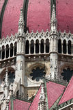 Gothic Parliament building in Budapest, decorative elements Stock Photo