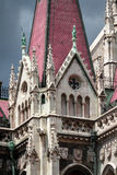 Gothic Parliament building in Budapest, decorative elements Royalty Free Stock Images