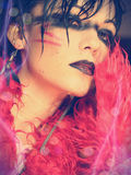 Gothic Party Girl royalty free stock photo