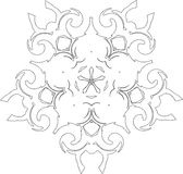 Gothic Pattern Of Curves Royalty Free Stock Photo
