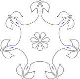 Gothic Pattern Of Curves Royalty Free Stock Photography