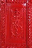 Gothic pattern in red Royalty Free Stock Photo