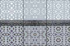 Gothic patterns set Royalty Free Stock Photo