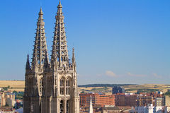 Gothic Pinnacles of Burgos Cathedral. Spain Stock Images