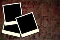 Gothic polaroid. Cracked background in a gothic style with three blank photos with room to add your own images Stock Photos