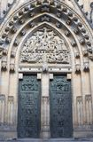 Gothic poratal from st. vitus cathedral in prague Stock Photos