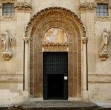 Gothic portal. Church Santi Nicolo e Cataldo-Lecce-Italia Royalty Free Stock Images