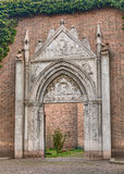 Gothic portal in Ravenna, Italy Stock Image