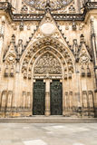 Gothic portal of  Saint Vitus Cathedral Stock Image