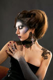 Gothic portrait of beautiful brunette Royalty Free Stock Image