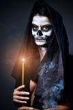 Gothic portrait of dead woman Royalty Free Stock Photo