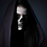 Gothic portrait of dead woman Royalty Free Stock Photos