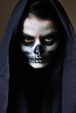 Gothic portrait of dead woman. In studio Royalty Free Stock Photo