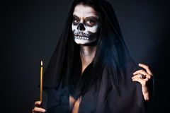 Gothic Portrait Of Dead Woman Royalty Free Stock Photography