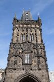 The Gothic Powder Tower in the Old Town of Prague. The Gothic Powder Tower also known as Prasna Brana in the Old Town of Prague, Czech Republic royalty free stock photo