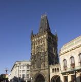 Gothic Powder Tower, Prague. Blue sky Stock Photos