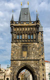 The gothic Powder tower in Prague, Czech Republic. Stock Photo