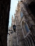 Gothic Quarter, Barcelona. View of ancient buildings in Gothic Quarter area in Barcelona, Spain Stock Image