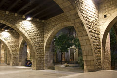 Gothic Quarter of Barcelona. Stock Photos