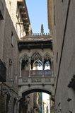 The Gothic Quarter in Barcelona Stock Photography