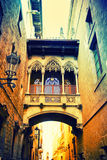 Gothic quarter in Barcelona Royalty Free Stock Image
