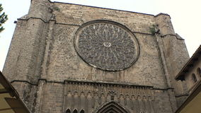 Gothic Quarter of Barcelona. Spain. Gothic Quarter of Barcelona. Ancient Gothic buildings, castles and architecture. Spain stock video footage