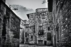 Gothic quarter in Barcelona, Spain. Gothic quarter (Barrí Gothic) in Barcelona, Spain royalty free stock images
