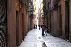 Gothic Quarter - Barcelona, Spain Royalty Free Stock Image