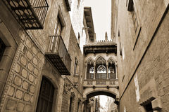 Gothic quarter in Barcelona, Spain Stock Photos