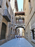 Gothic quarter in Barcelona, Spain Stock Photo