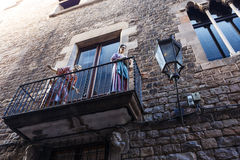 Gothic quarter, Barcelona Royalty Free Stock Photography