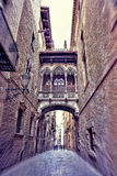 Gothic quarter in Barcelona, Spain Royalty Free Stock Photo