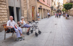 Gothic Quarter, Barcelona, Spain Stock Images