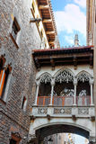 Gothic Quarter in the heart of Barcelona. Stock Photography