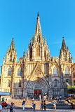 Gothic Quarter in the heart of Barcelona. Stock Image