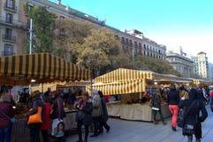Gothic Quarter marketplace,Barcelona Royalty Free Stock Photos