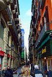 Gothic Quarter street in Barcelona Royalty Free Stock Photo