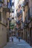 Gothic Quarter streets in Barcelona Stock Photos