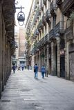 Gothic Quarter streets in Barcelona Royalty Free Stock Photo