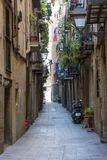 Gothic Quarter streets in Barcelona Stock Image