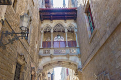 Gothic quarters in Barcelona, Spain Royalty Free Stock Photography