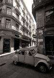 Gothic Quater Streets. Narrow Streets in Barcelona's Gothic Quarter (Black & White Stock Photos