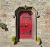 Gothic Red Front Door Stock Image