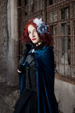 Gothic redhead woman Stock Photography