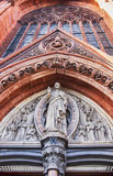 Gothic relief sculpture on church Royalty Free Stock Images