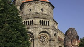 Gothic and renaissance Basilica Saint Procopius in Trebic monastery, UNESCO site,Czech Republic. Gothic and renaissance Basilica Saint Procopius in Trebic stock video footage