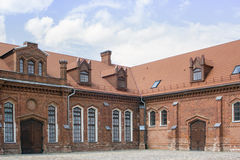 Gothic-Renaissance manor stables in Raudondvaris Castle in Lithu Stock Photo